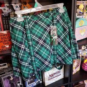 NWT Royal Bones suspender skirt!